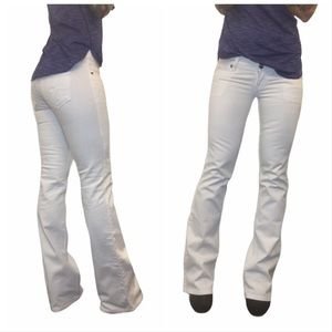 Guess   White Foxy Flare Jeans